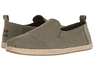TOMS Deconstructed Alpargata Rope (Olive Washed Canvas) Men