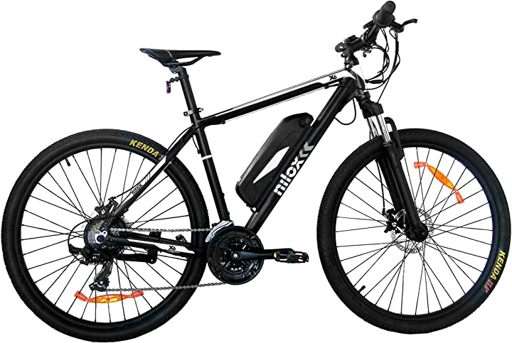 Bicicletta nilox ebike x6, unisex adulto, black and white, medium B086N75TVF