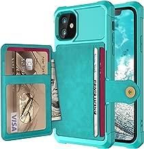 Ranyi | جراب iPhone 11 | جراب محفظة واقٍ نحيف | فتحات لحمل بطاقات الائتمان | مطاط TPU المقاوم | غطاء محفظة قلاب | متوافق مع Apple 2019 6. 5 بوصات iPhone 11 جريه مارل