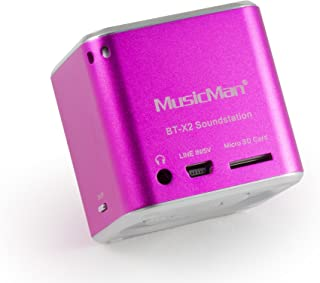 MusicMan TXX3810 Mini Wireless Soundstation BT-X2 (MP3 Player, Bluetooth) - Pink