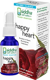 Siddha Remedies Happy Heart Spray | Helps Cold & Detached Get More in Touch with Their Heart & Bring Emotions to Surface |...