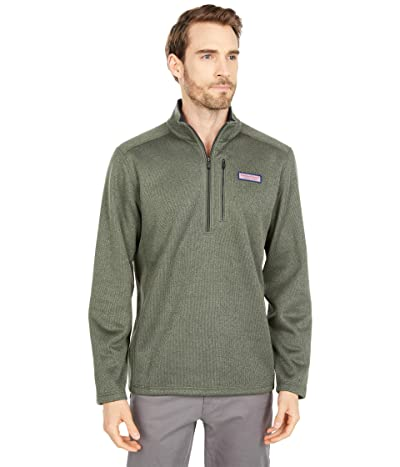 Vineyard Vines Mountain Sweater Fleece 1/4 Zip (Cypress) Men