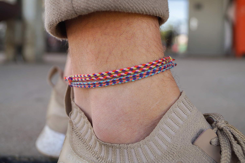 2x Translated Boho Surfer Anklet Women - Opening large release sale Ethno Set Ankle 2 Ha Bracelet of