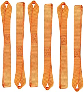Orange LITTOU 12 inch X 1 inch Soft Loops Tie Down Motorcycle Straps 2300 Lbs Break Strength Towing Ropes Prevent Scratches for Motorbike ATV UTV Dirt Bike Harley Heavy Duty 16 Pcs