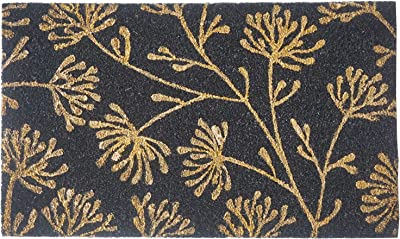 NACH Floral Entryway Doormat (18x30 in) 100% Coconut Coir with Vinyl Backing - FW-2408 by North American Country Home