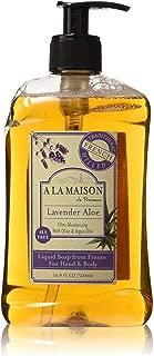 A La Maison de Provence Liquid Soap, Lavender Aloe, 16.9-Ounce Bottles (Pack of 3)