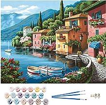 APERIL Pintar por Numeros Adultos Niños DIY Pintura por Números con Pinceles y Pinturas-16 * 20 Pulgadas, Sin Marco (Style C)