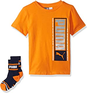 PUMA Boys 71195901TME-P802 Boys' T-Shirt & Sock Set Short Sleeve T-Shirt