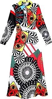 Elegant Long Kaftan Dress with Belt