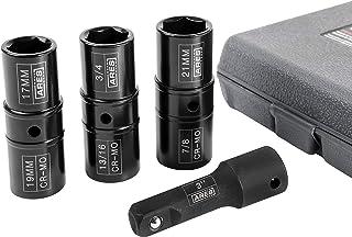 ARES 70056-1/2-inch Drive 4-Piece Flip Lug Nut Socket Set – Includes 17mm, 19mm,..