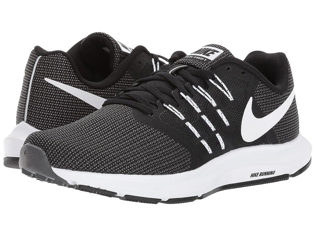 スピン先住民貪欲(ナイキ) NIKE レディースランニングシューズ?スニーカー?靴 Run Swift Black/White/Dark Grey 8.5 (25.5cm) B - Medium