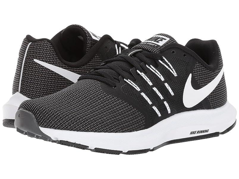 陸軍ブラザー前奏曲(ナイキ) NIKE レディースランニングシューズ?スニーカー?靴 Run Swift Black/White/Dark Grey 10 (27cm) B - Medium