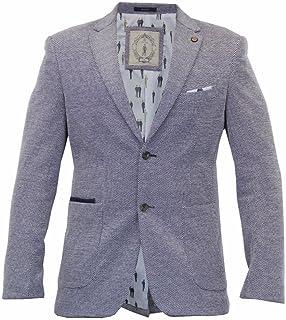 Cavani Mens Mikkal Casual Designer Mens Grey Blazer Jacket
