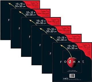 MCS 12x12 Inch Format Frame 6-Pack, Black (65625)