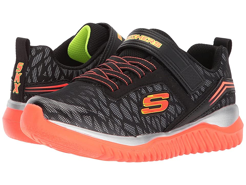 SKECHERS KIDS Turboshift (Little Kid/Big Kid) (Black/Orange) Boys Shoes