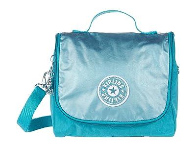 Kipling Kichirou Insulated Lunch Bag (Turqouise Sea Metallic Block) Handbags