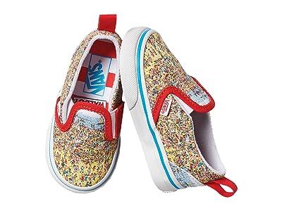 Vans Kids Slip-On V (Infant/Toddler) ((Wheres Waldo?) Find Steve/Beach) Kids Shoes