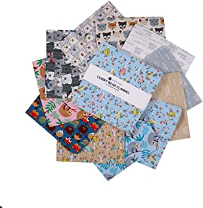 Windham Fabrics Windham Cubby Bear Flannel 10'' Squares Multi 42pcs