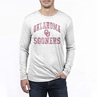 Top of the World NCAA Mens Modern Fit Premium Tri-Blend Long Sleeve Team Color Distressed Mascot Arch Tee