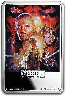 2018 NZ Niue 1 oz Silver $2 Star Wars The Phantom Menace Poster 1 OZ Brilliant Uncirculated