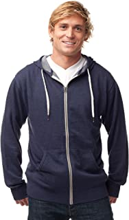 Global Slim Fit French Terry Lightweight Zip Up Hoodie for Men and Women