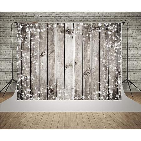 Waw Fotohintergrund Holz Wand Schneeflocken Sterne Kamera