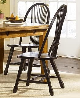 Liberty Furniture Industries Treasures Sheaf Back Side Chair - Black, W18 x D20 x H41, Medium Brown