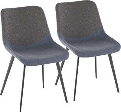 LumiSource Two-Tone Upholstered Chair - Set of 2