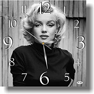 dudkaair Marilyn Monroe 11.4'' Handmade Wall Clock - Get Unique décor for Home or Office – Best Gift Ideas for Kids, Friends, Parents and Your Soul Mates