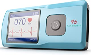 SonoHealth Portable EKG Heart Rate Monitor | Wireless Handheld Home ECG Cardio & Electrocardiogram Machine | Biofeedback F...