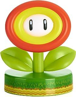 Paladone Super Mario Fire Flower 3D Icon Light BDP | Producto oficial coleccionable Nintendo | Idea de regalo único | Luz nocturna brillante o lámpara de escritorio | Funciona con 2 pilas AAA, Verde