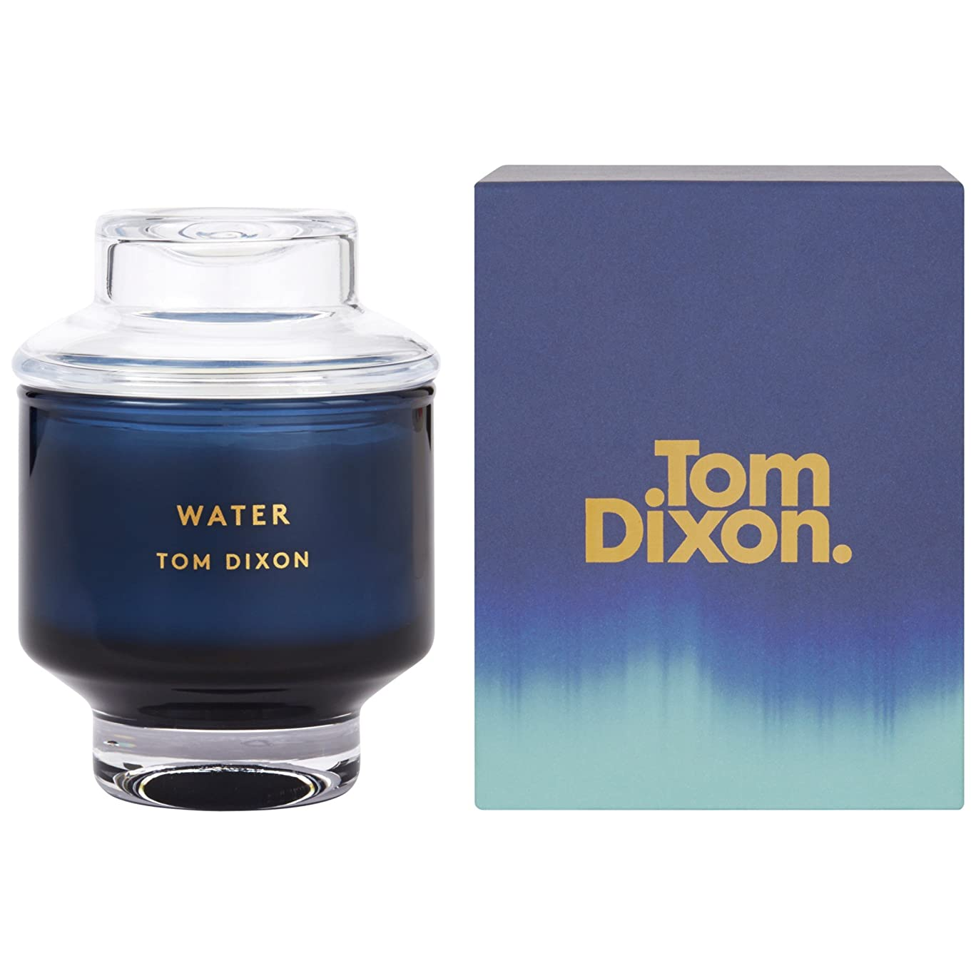 サイズ頑張る失うTom Dixon Water Scented Candle Medium (Pack of 2) - トム?ディクソン水の香りのキャンドル媒体 x2 [並行輸入品]