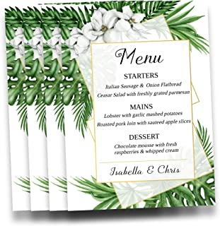Best personalized menu template Reviews