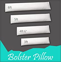 Adams Home Premium Hollowfiber Filled Bolster Pillow (King, 5ft) - Non-Allergenic Orthopedic Long Pillow for Back, Neck, Maternity Support - Multi-purpose Pregnancy Support Bolster Pillow. Made In UK