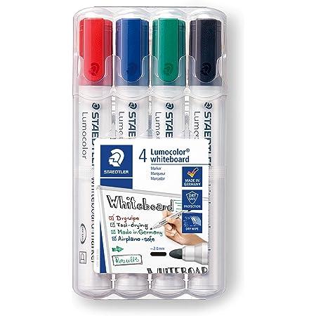 Staedtler Lumocolor 351 WP4 Bullet Tip Whiteboard Marker - Pack of 4 (Assorted)