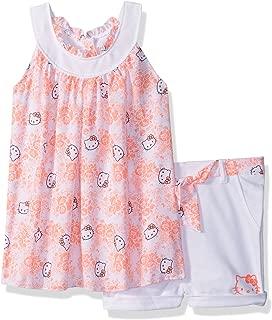 Hello Kitty 女童短裤套装带装饰时尚上衣