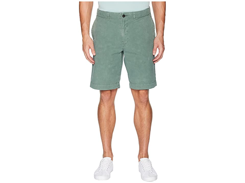 Image of Billy Reid Clyde Cotton Shorts (Fern) Men's Shorts