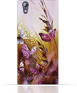 Lenovo P70 TPU Silicone Case with Butterfly Oil Paint Pattern