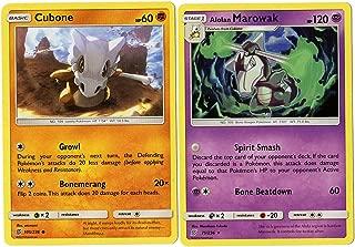 Evolution Card Set - Alolan Marowak - 19/236 - Sun Moon Unified Minds - Rare Card Lot