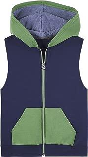 Fruit of the Loom Boys 21000B Fleece Full Zip Sleeveless Vest Sleeveless Vest - Multicolor