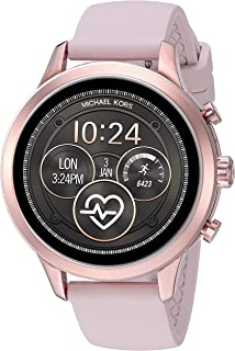 Women's Access Runway Stainless Steel Silicone Smart Watch, Color: Rose gold-tone (Model: MKT5048)