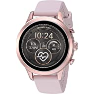 Michael Kors Women's Access Runway Stainless Steel Silicone Smart Watch, Color: Rose gold-tone...