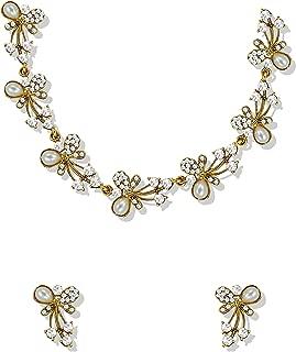 Zaveri Pearls Jewellery Set for Women (Golden)(ZPFK5216)