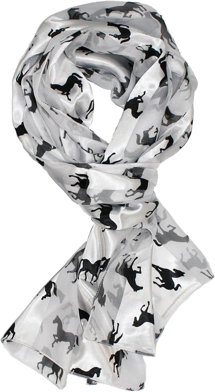 Ted & Jack - Stylish Equestrian Horse Print Silk Feel Scarf