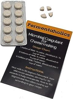 Cuajo microbiano para hacer queso   pastillas de cuajo vegetariano   Coagulante de leche   Queso vegano   Tabletas de cuajo estantes, perforadas para un uso fácil