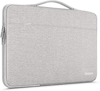 MOSISO Laptop Sleeve 360 Protective Case Bag Compatible with 13-13.3 inch MacBook Pro, MacBook Air, Notebook with Back Trolley Belt, Polyester Shockproof Carrying Case Handbag, Gray