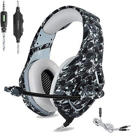 ONIKUMA K1-B-Camouflage - Cuffie Da Gioco Stereo 3.5 mm con microfono a cancellazione di rumore per PC, PS4, XBOX ONE, IPAD, Grigio (Camouflage) - Trova i prezzi più bassi