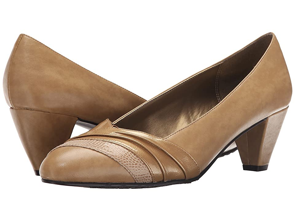Soft Style Danette (New Taupe Vitello/Pearl Patent) Women