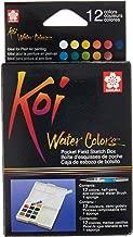 Sakura XNCW-12H, 12 Assorted Watercolors Field Sketch Set with Brush