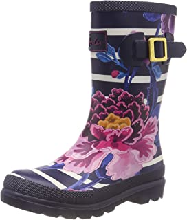 Joules Kids Baby Girl's Printed Welly Rain Boot (Toddler/Little Kid/Big Kid) Chinoise Stripe 13 M US Little Kid